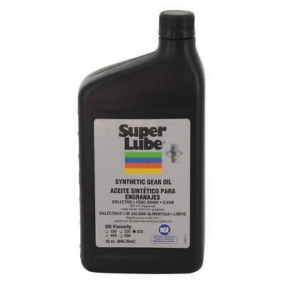 SUPER LUBE Synthetic Gear Oil,ISO 320,1 Qt., 54300, Clear