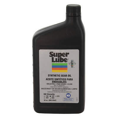 SUPER LUBE Synthetic Gear Oil,ISO 220,1 Qt., 54200, Clear