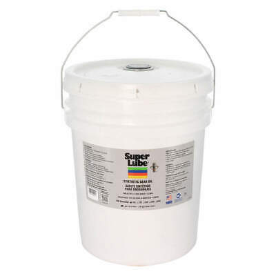 SUPER LUBE Synthetic Gear Oil,ISO 150,5 Gal., 54105, Translucent Clear