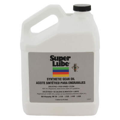 SUPER LUBE Synthetic Gear Oil,ISO 150,1 Gal., 54101, Translucent Clear