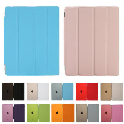 Slim Smart Magnetic Case Hard Back Stand Cover for iPad 6 5 4 3 2 iPad Mini/Air