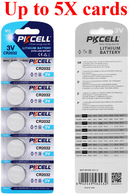 CR2032 3V lithium Button Cell coin batteries (PKCELL)