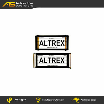 4 Figure Number Plate Covers Slimline Black with Lines Altrex 4VSL