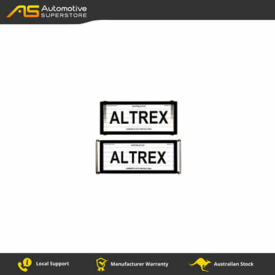 5 Figure Number Plate Covers Advanced Black with Lines Altrex 5OLC