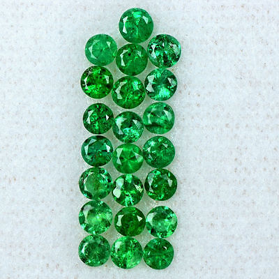 1.99 Cts Natural Rich Green Emerald Loose Gemstone Diamond Cut Lot 3 mm Zambia $