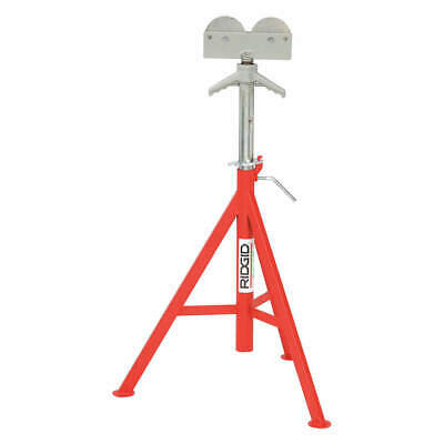 RIDGID Tubular Steel Roller Head Pipe Stand,1/8 to 12 In., 56672