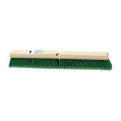 "TOUGH GUY Push Broom,Head,36"",Green, 3U767"