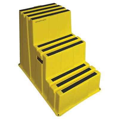 GRAINGER APPROVED Plastic Step Stand,Yellow,Number of Steps 3, 44ZJ63, Yellow