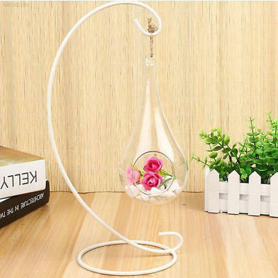 0B31 Fashion Clear Glass Round Hanging Candle Light Holder Candlestick Wedding