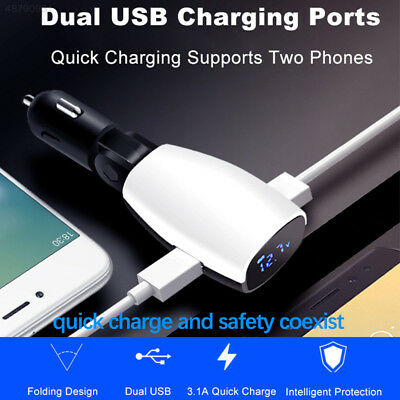 Cars 16W Low Voltage Alarm Car Charger USB Charger Universal 3.1A ABS