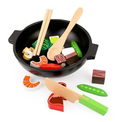 Cute Wooden Design Baby Kids Kitchen Toys Early Education Cooking Toys CGVW