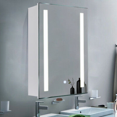Illuminated Led Bathroom Mirror Cabinet W Touch Sensor Anti Fog