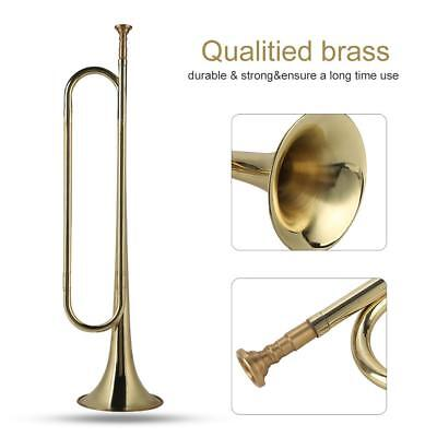 Gold Army Cavalry Marching Parade Trumpet Signal Bugle Horn Brass Instrument