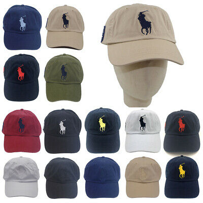 Polo Cap With Fine Embroideried Big Pony 3 Baseball Golf Tennis Hat Unisex  Men b19a6b9d28a