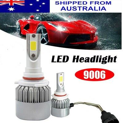 2x 9006 HB4 LED Headlight Bulbs Conversion Car Kit 200W 6500K White Globe Light