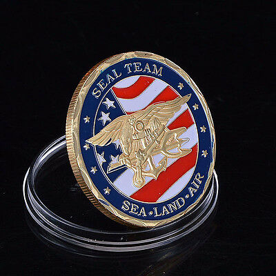Us Navy Seals Commemorative Challenge Coin New Popx:)