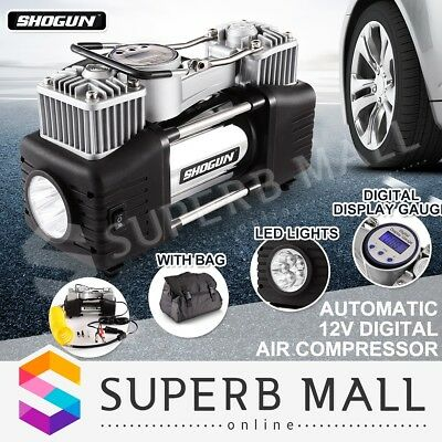 New SHOGUN 12V Automatic Digital Air Compressor Car Tyre Air Kit Portable Tool