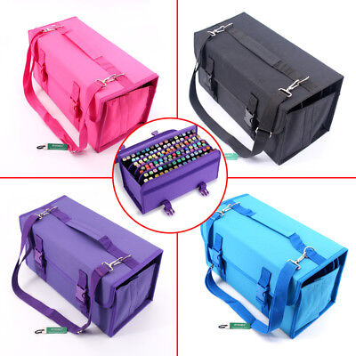 Brand new 120 Slots Art Marker Pen Bag Multi Layer Portable Storage Case Holder