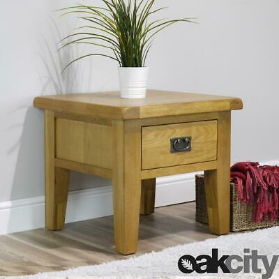 Arklow Oak Lamp Table / Oak Side Table With 1 Drawer / Large 55cm Top