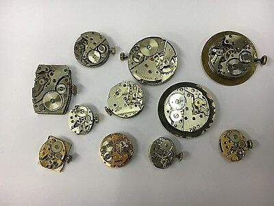 Lovely Vintage Swiss Watch Mechanisms, Repairs, Crafts