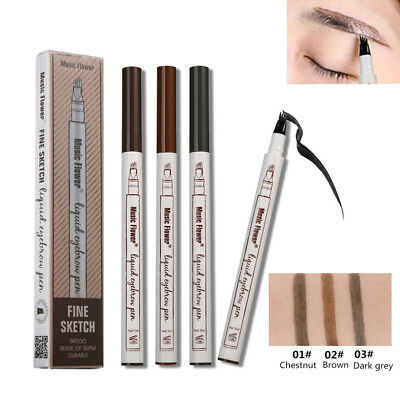 Eyebrow Tattoo Pen Waterproof Fork Tip Microblading Makeup Ink Sketch School DZ