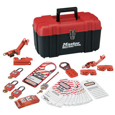 MASTER LOCK PortableLockoutKit,Filled,Electrical,24, 1457E410KA, Red