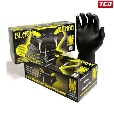 Black Mamba Industrial Strength Nitrile Gloves - Box of 100 - Large