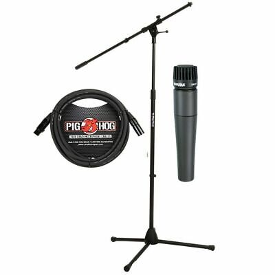 Shure Shure SM57 Microphone with Professional Stand and Pig Hog Mic Cable