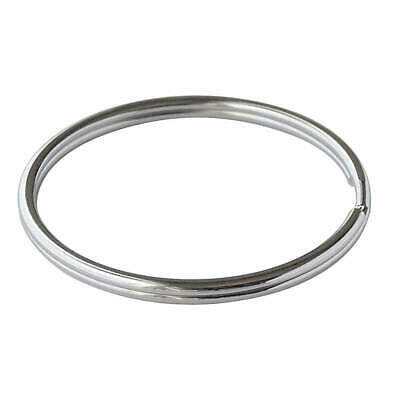 LUCKY LINE PRODUCTS 3in Split Ring,Nickel-Plated Steel,PK10, 7910010, Silver
