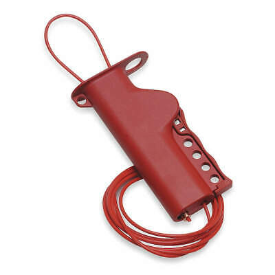 BRADY Grip-Cinching Cable Lockout,8 ft. L, 50943, Red