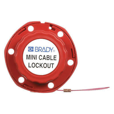 BRADY Mini Cable Lockout, 50940, Red