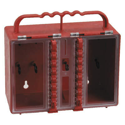 BRADY Group Lockout Box,16 Locks Max,Red, 50937, Red