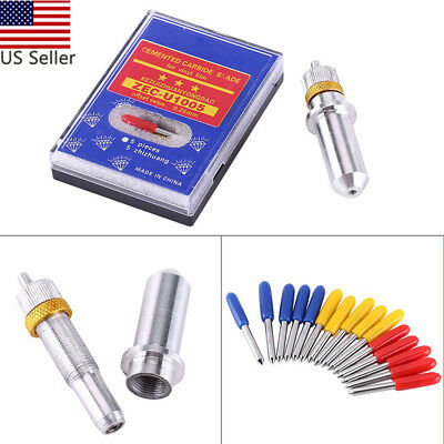 15pcs 30/45/60 Degrees Vinyl Cutter Plotter Roland Blades+Roland Blade Holder US