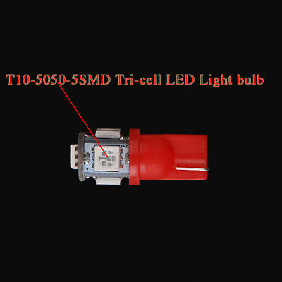 Led 192 Smd Bright Wedge 5050 Red T10 Super 168 158 Car Lights Bulb W5w Lamp
