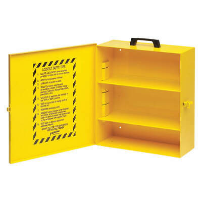 BRADY Metal Lockout Station,Unfilled,16 In H, LC252M, Yellow