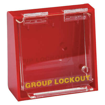 BRADY Group Lockout Box,10 Locks Max,Red, LG008E, Red