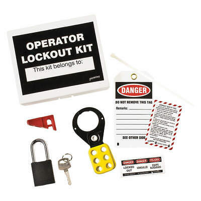 BRADY Portable Lockout Kit,Filled,Electrical,6, LK432E, White