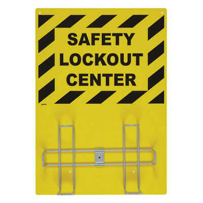 BRADY Lockout Kit Sign Rack, LKX-RACK, Black/Yellow