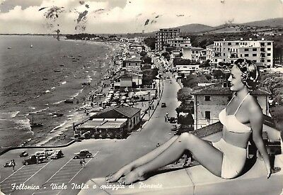 5179) Follonica (Grosseto) Pin-Up. Viaggiata Nel 1958.