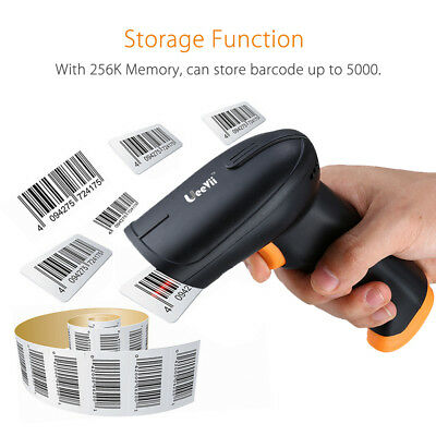 2.4G USB Charging Wireless Cordless Portable Laser Barcode Scanner POS Reader S2