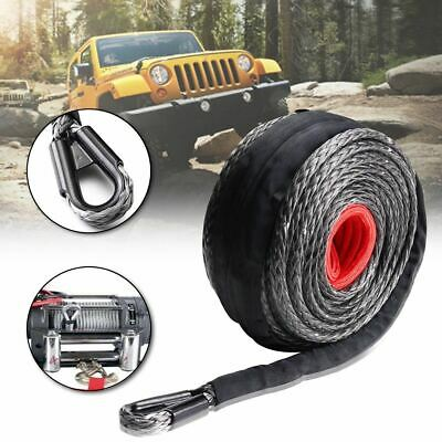 3/8'' x 95' Synthetic Winch Line Cable Rope 20500LBs ATV SUV Recovery Rope 9.5MM
