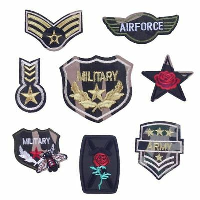 Prajna Army Patches Embroidery Iron On Morale Patches Clothes Stickers Sew On Ap