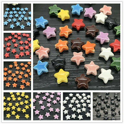 15mm Ceramic Five stars Bead Bracelet Accessories Porcelain beads Jewelry Making