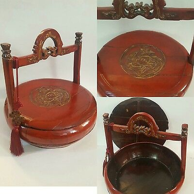 Large Antique c1850 Chinese Shanxi Wedding Basket: Certificate of Antiquity