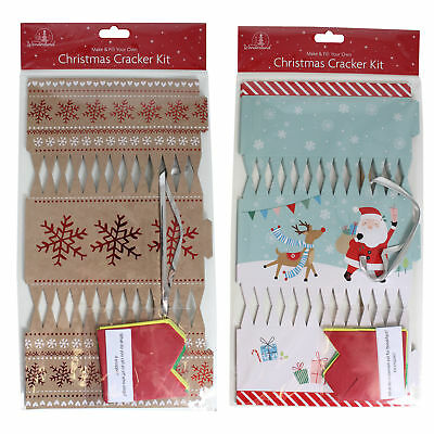 Christmas Cracker Kit  - DIY 6 Pack Make your Own - Choose Design