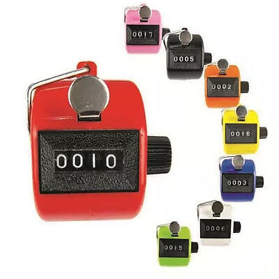 Digital Hand Held Tally Clicker Counter 4 Digit Number Clicker Golf Chrome UK