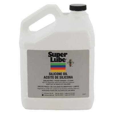 SUPER LUBE Pure Silicone Oil,5000cSt Pail,1 gal., 56501, Clear