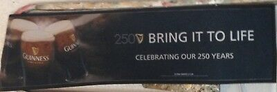 """Guinness Bar Runner Extra Large 250th Anniversary """"Bring It To Life"""""""