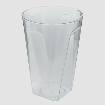 Plastic Square Tumblers/Glasses Hard Disposable 284ml/10oz Pack of 40 Party Cups