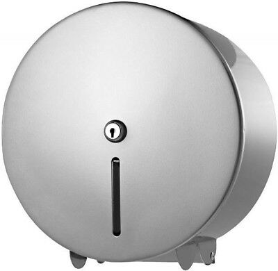 Silver Metal Mini Jumbo Toilet Roll Dispenser